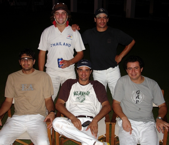 The gauchos from Villa Dolores -- Federico, Rata, Vet, Cabeza, Architect