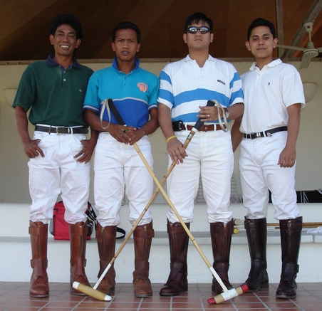 Innen, Pepen, Agus, Reffi -- Indonesian Polo Team