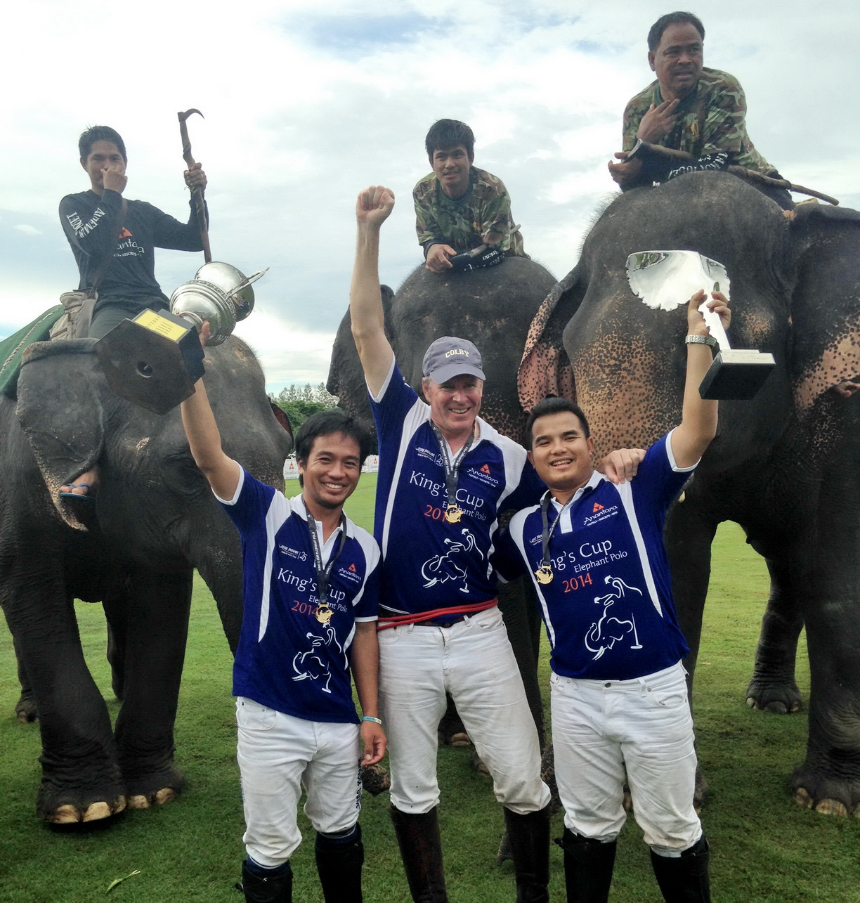 King Power wins Kings Cup Elephant Polo 2014