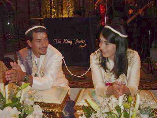 Khun Vichai recently sponsored a Thai Wedding ceremony for Marco and his